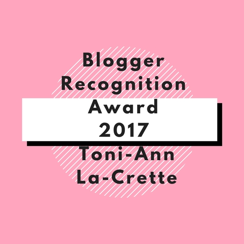 Blogger Regonition Award