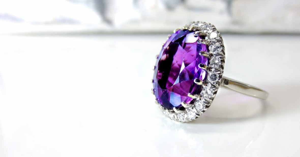accessory amethyst birthstone bright